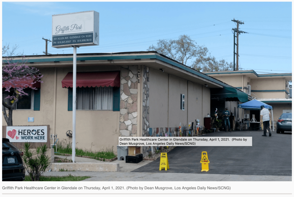 Griffith Park Healthcare Center - Photo by Dean Musgrove, LA Daily News/SCNG