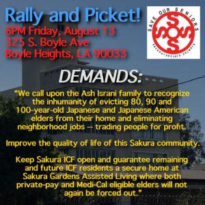 August 13 Rally and Picket Agaist ICF Evictions