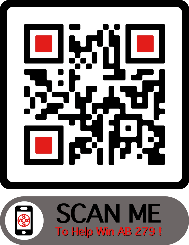 SOS QR Code for AB 279 Support Lettes